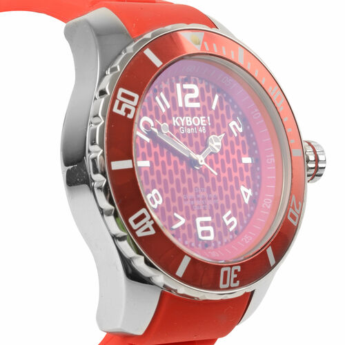 KYBOE Power Collection- Japanese Movement 100M Water Resistant Summer Romance LED Watch in Stainless Steel with Rotating Bezel -  48MM