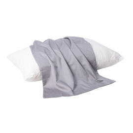 Serenity Night - 100% Cotton Pillow Case (75x50cm) - Light Grey