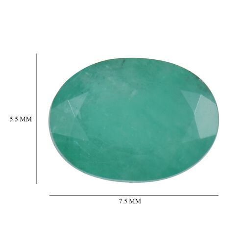 AA Emerald Oval 7.5x5.5 Faceted 0.95 Cts