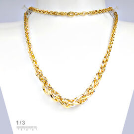 Italian Made- 9K Yellow Gold Necklace (Size 22), Gold Wt. 18.00 Gms