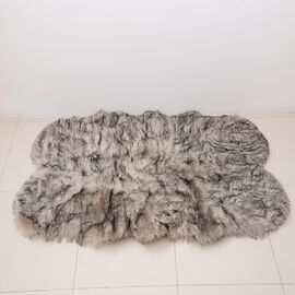 Luxury Edition - Faux Sheep Skin Rug (Size 180x100 Cm) - Cream and Brown