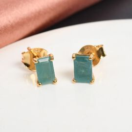 Grandidierite Earring in 14K Gold Overlay Sterling Silver 0.24 ct  1.000  Ct.