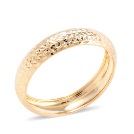 Royal Bali Collection Diamond Cut Texture Band Ring in 9K Yellow Gold