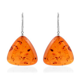 LIVE from Tucson- Baltic Amber Lever Back Earrings in Sterling Silver