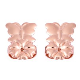 Butterfly Design Lifting Miracle Backs in Rose Gold Plated Silver