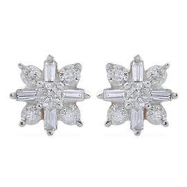 9K Yellow Gold SGI Certified Diamond (I 3/G-H) Stud Earrings (with Push Back) 0.250 Ct.