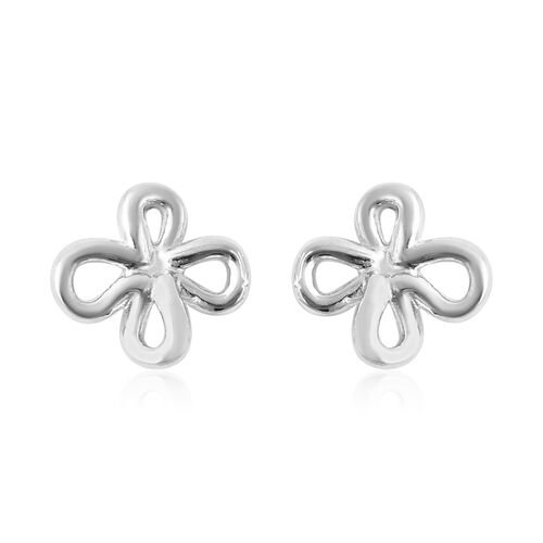 LucyQ Splash Collection - Rhodium Overlay Sterling Silver Stud Earrings (with Push Back)
