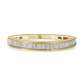 Diamond Ring in 14K Gold Overlay Sterling Silver 0.250  Ct.