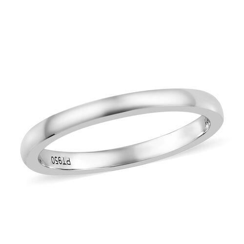 RHAPSODY High Finish Flat Wedding Band Ring in Platinum 3 grams