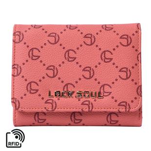 LOCK SOUL Three-Fold RFID Wallet - Orange