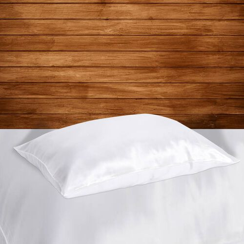 100% Mulberry Silk Hyaluronic Acid and Argan Oil Infused Pillowcase (Size 50x75cm) - White