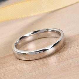 9K White Gold Band Ring, Gold Wt. 3.59 Gms