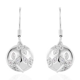Cambodian Zircon (0.33 Ct) Platinum Overlay Sterling Silver Earring  0.250  Ct.