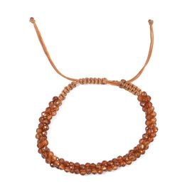 Hessonite Garnet Bead Adjustable Bracelet (Size 6.5-9.5) 30.66 Ct.