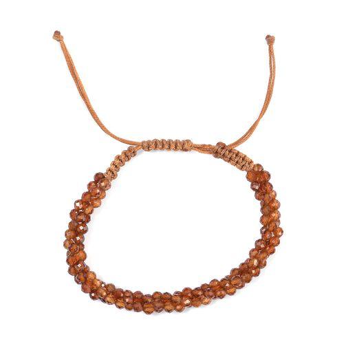 Hessonite Garnet Bead Adjustable Bracelet (Size 6.5-9.5) 30.66 Ct.