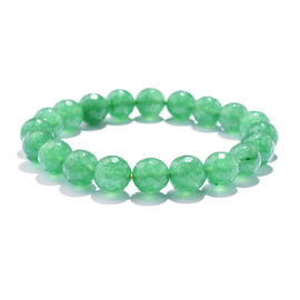 TJC Launch- Verde Onyx (Rnd 10mm) Stretchable Beads Bracelet (Size 7) 120.000 Ct.