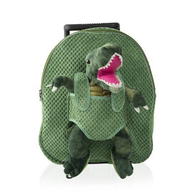 BRAND NEW: Plush Convertable Dinosaur Backpack with Trolley and Detachable Cuddly Toy (12 Inches) -