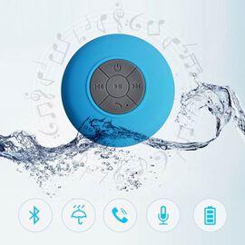 Multi Use Rain / Splash Proof Wireless Bluetooth Stereo Speaker with Built-in Mic. - Blue