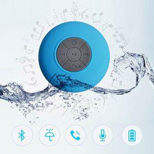 'Multi Use Rain / Splash Proof Wireless Bluetooth Stereo Speaker With Built-in Mic. - Blue