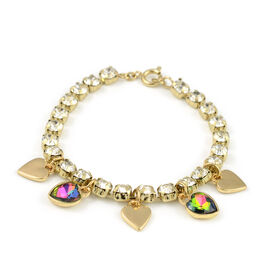 Charm Bracelet (Size 6.75) in Yellow Gold Tone