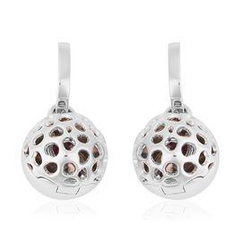 RACHEL GALLEY Rhodolite Garnet (Heart Cut) Lattice Earrings in Rhodium Overlay Sterling Silver Silve