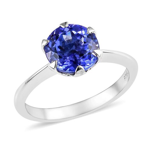 Super Auction- RHAPSODY 950 Platinum AAAA Tanzanite (Rnd 8 mm) Solitaire Ring 2.00 Ct.