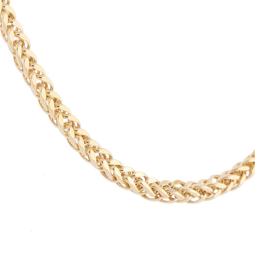 Italian Made- 9K Yellow Gold Adjustable Spiga Serpente Necklace (Size 24), Gold Wt 9.36 Gms