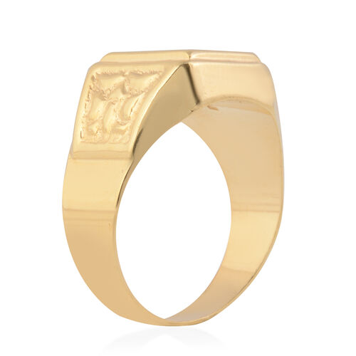 New York Close Out Deal 9K Yellow Gold Signet Ring, Gold wt 3.27 Gms
