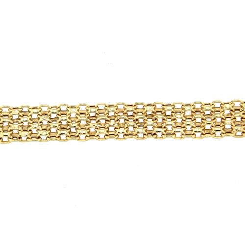 9K Yellow Gold Bismark Bracelet (Size 7.5) wit Senorita Clasp, Gold wt 5.60 Gms
