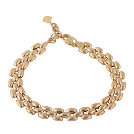 JCK Vegas Designer Inspired - 9K Y Gold Panther Link Bracelet (Size 7.5 with 1 Inch Extender), Gold