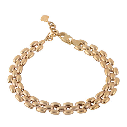 JCK Vegas Designer Link Bracelet in 9K Gold 4.26 Grams 7 With 1 Inch Extender