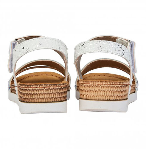 Lotus Prato Velcro Sandals (Size 8) - White
