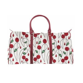 DOD - SIGNARE - Tapastry Collection -Mackintosh Rose Big Holdall with Strap (31 x 30 x 13.5 cms)