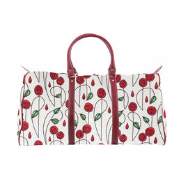 SIGNARE - Tapastry Collection -Mackintosh Rose Big Holdall with Strap (31 x 30 x 13.5 cms)