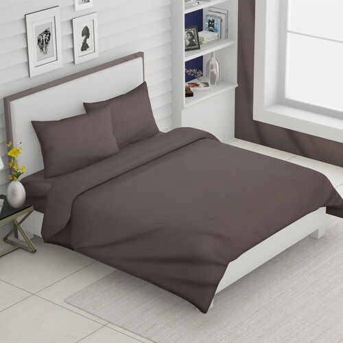 Super Auction - 4 Piece Set - Super Soft Copper Infused 1 Fitted Sheet (150x200+30 Cm), 1 Flat Sheet