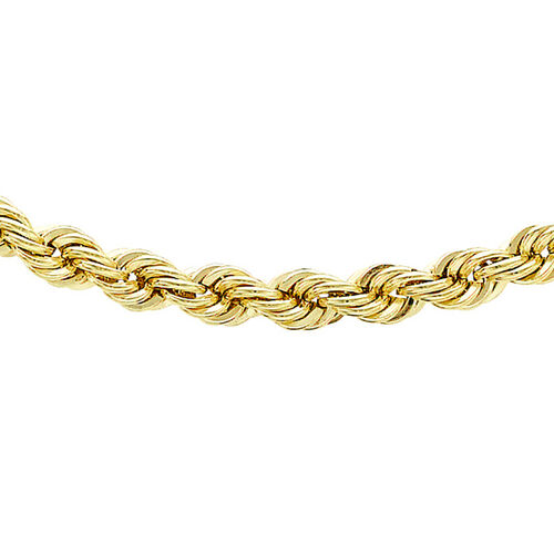 9K Yellow Gold Rope Chain (Size 28), Gold wt 7.10 Gms
