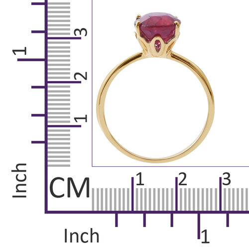 5.25 Ct AAA African Ruby Solitaire Ring in 9K Gold