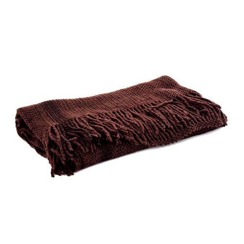 New For the Season- Dark Chocolate Colour Scarf (Size 210x90 Cm)