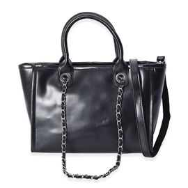 Super Auction - 100% Genuine Leather Tote Bag with Detachable Shoulder Strap and External Zipper Clo