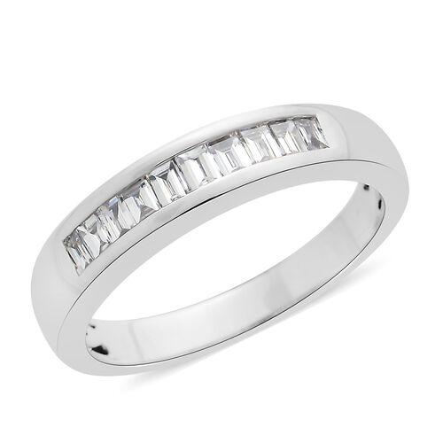 RHAPSODY 950 Platinum IGI Certified Diamond (Bgt) (VS/E-F) Half Eternity Band Ring 0.500 Ct.