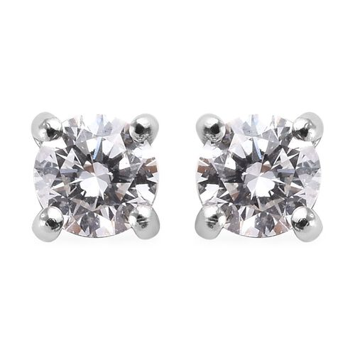 RHAPSODY 950 Platinum SGL Certified Diamond (Rnd) (VS/E-F) Stud Earrings (with Screw Back) 0.25 Ct.