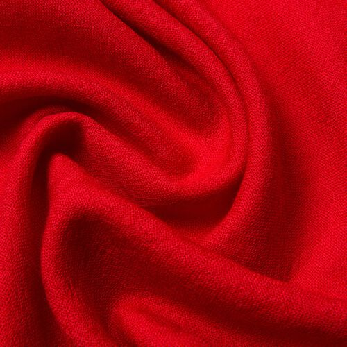 Super Soft 100% Wool Wine Red Colour Scarf with Fringes (Size 190X70 Cm)