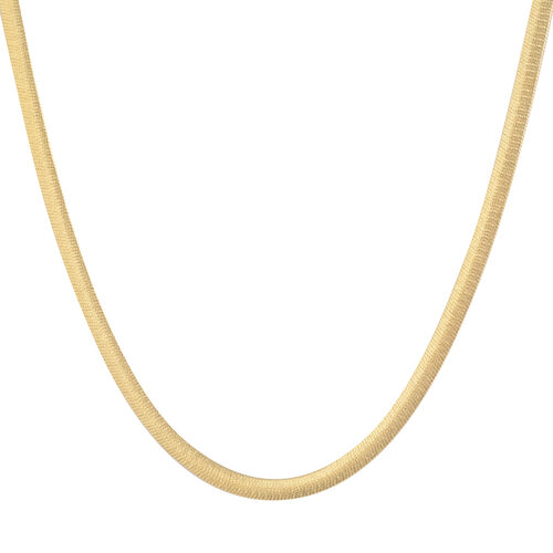 Made in Italy - 14K Gold Overlay Sterling Silver Herringbone Chain (Size 20), Silver wt 9.02 Gms