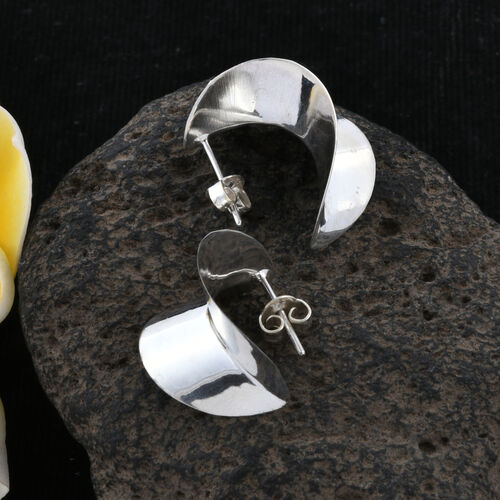 Royal Bali Collection Sterling Silver Leaf Earrings (with Push Back)