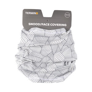 Termin8 Reusable and Lightweight Snood Face Covering - Grey Geometric