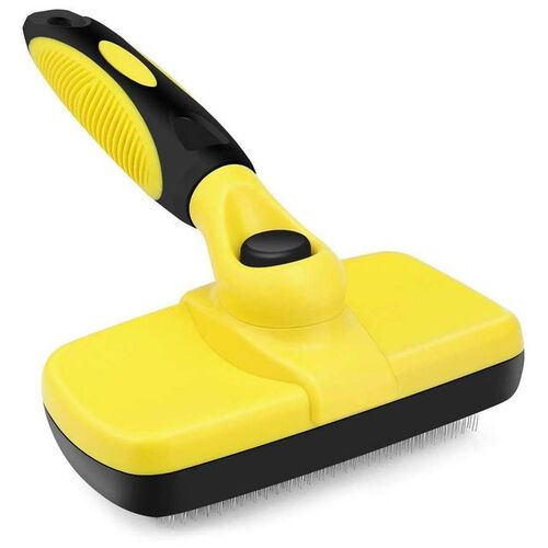 Yellow and Black Colour Slicker Brush (Size 18x12 Cm)