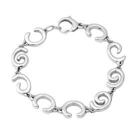 Sterling Silver Swirl Link Bracelet (Size 8.5), Silver wt 16.97 Gms