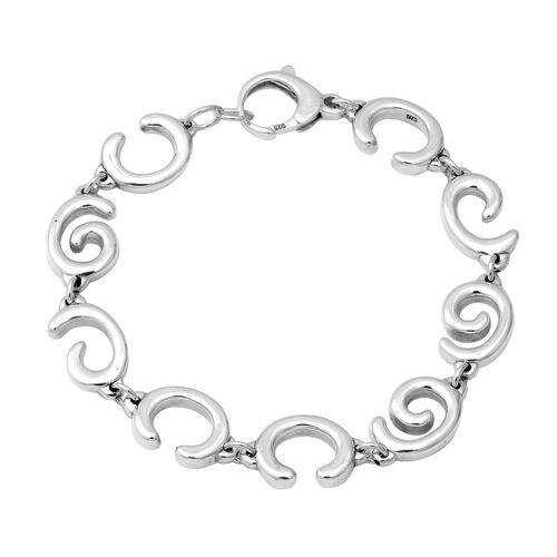 Swirl Link Bracelet in Silver 16.97 Grams 8.5 Inch