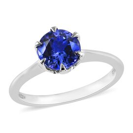 RHAPSODY 1.50 Ct AAAA Tanzanite Solitaire Ring in 950 Platinum 3.75 Grams