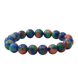 Multi Colour Jasper Stretchable Beads Bracelet (Size 7.5) 135.00 ct.